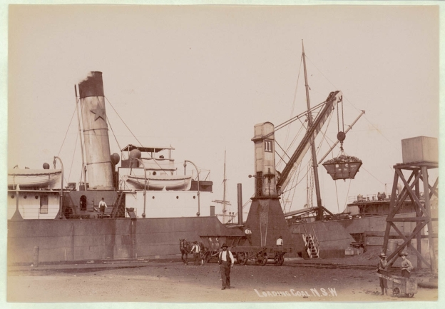 Loading Coal, Newcastle Harbour NSW, about 1900-1910