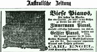 Biese Pianos, Zimmermann Pianos, Geißler Pianos