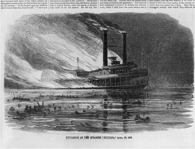 Explosion of the steamer Sultana, April 27, 1865