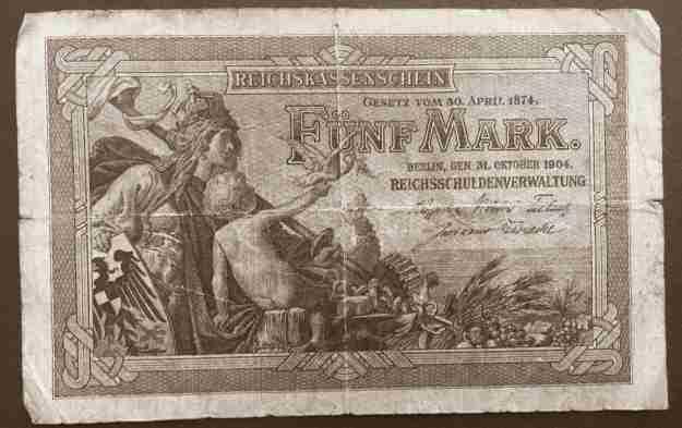 Fünf Mark, Reichskassenschein