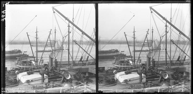 Anwerp, port, stereophoto