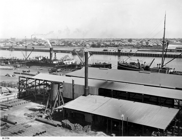 Wharfs in Port Adelaide about 1910