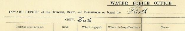 Water Police Office Fremantle, inward report, Furth, December 29, 1910