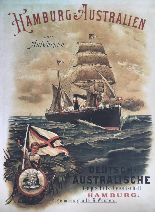German Australian Line, poster, 1891/1892
