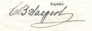 C. B. Saegert, master