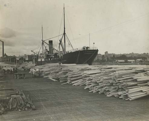 Danish steamer Cambodia in Geelong