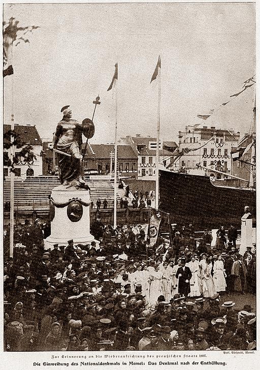 Memel, Borussia monument, 1907