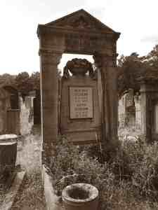 tombstone Justus Ullmann, cemetary in Fürth