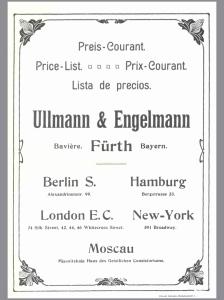 Ullmann und Engelmann, catalogue 1902
