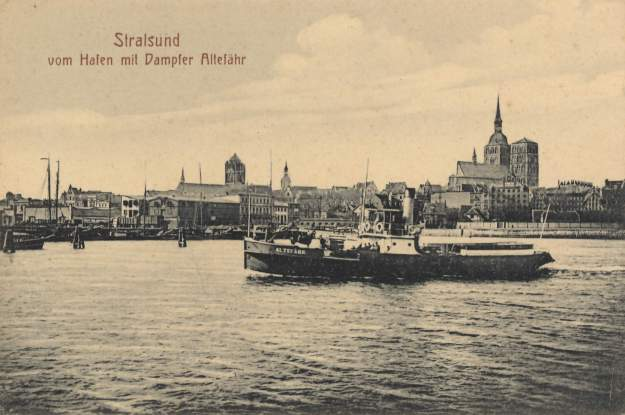 Stralsund port, about 1900