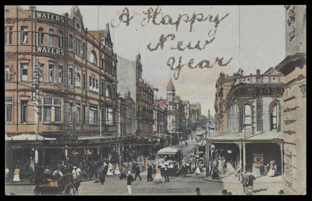King Street/Ecke George Street in Sydney, 1906
