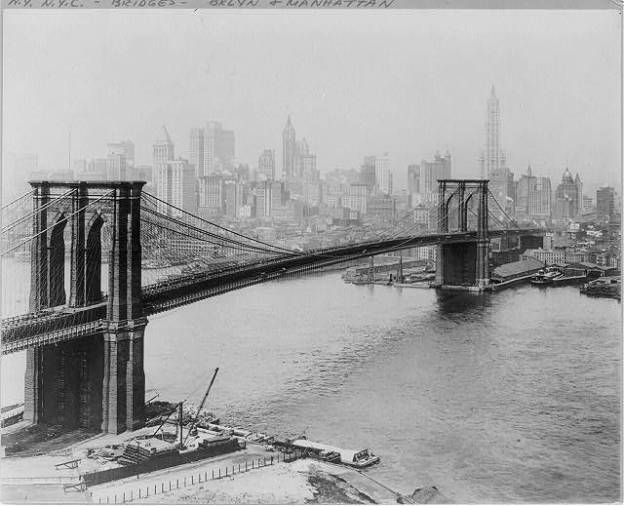 Brooklyn Bridge, New York, 1915