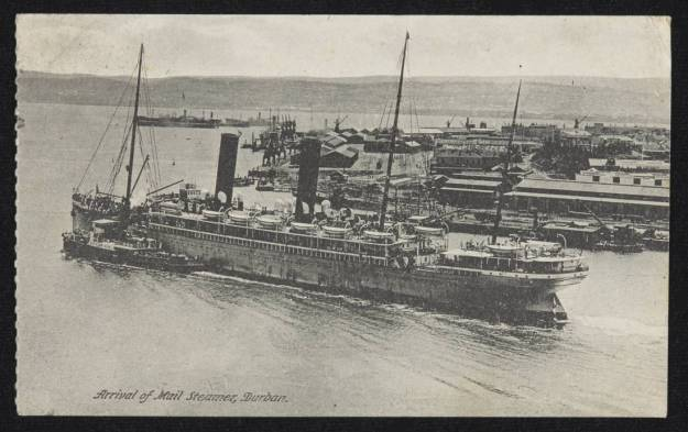 Arrival of Mail Steamer in Durban