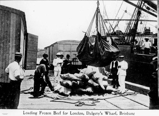 Brisbane, Dalgety's Wharf, about 1911