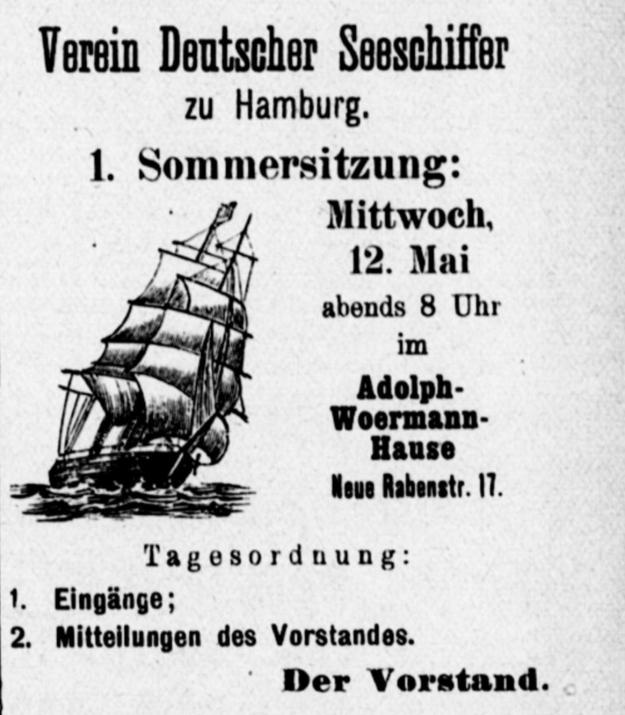 Verein Deuscher Seeschiffer 1915