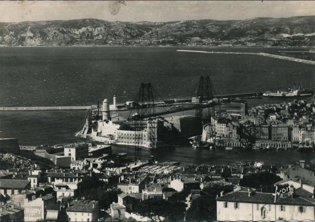 Marseille, port et pont transbordeur