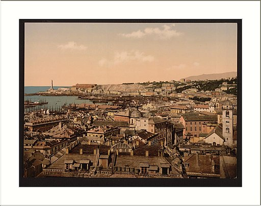 Genua Panorama Photochromdruck