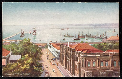 colombo, harbour, about 1900-1910, postcard