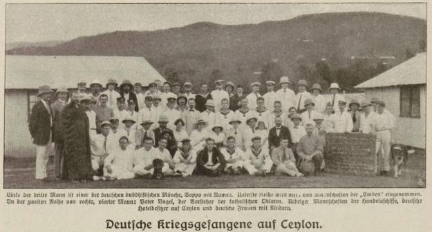 Die Woche, Deutsche Kriegsgefangene auf Ceylon