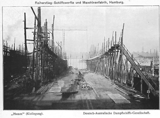 Kiellegung Dampschiff Hamm
