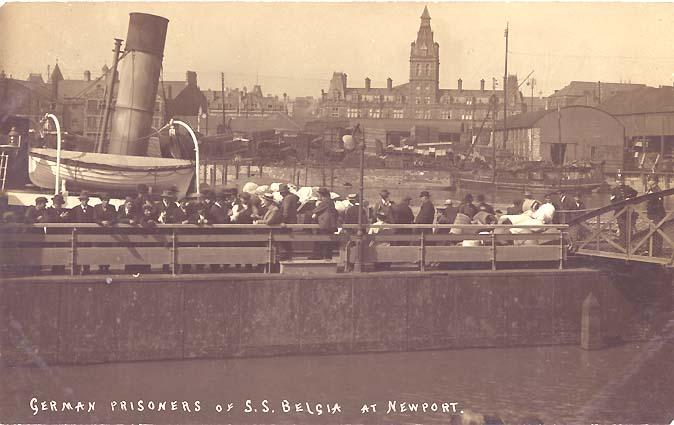 Begia, German prisoners, Newport (Wales)