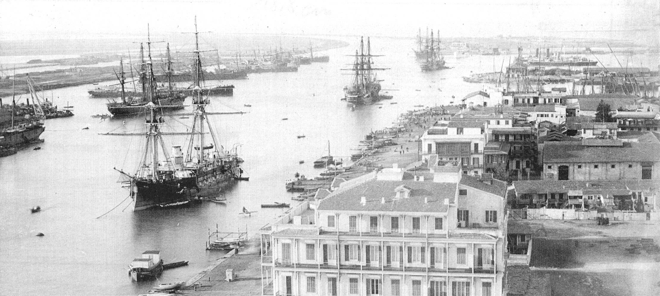 Suez canal, about 1880