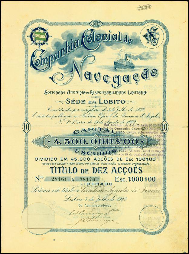 Companhia Colonial de Navegaçao, Angola