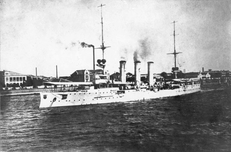SMS Emden, Tsingtau, China, 1914