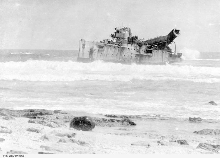 SMS Emden, Cocos Islands, 1914