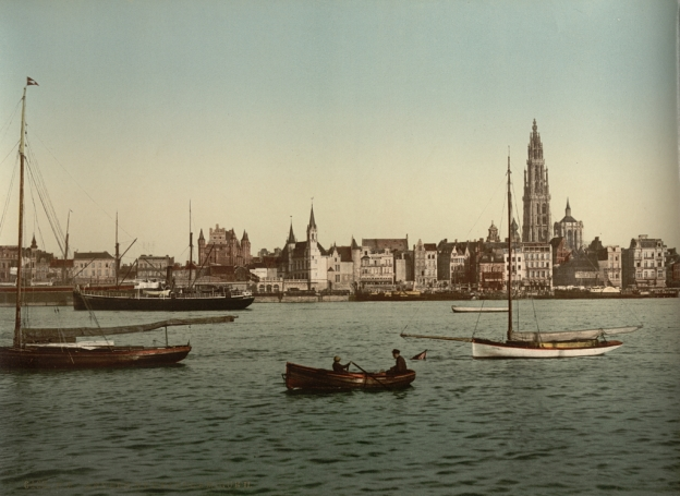 Antwerp 1900 schelde Anvers escaut