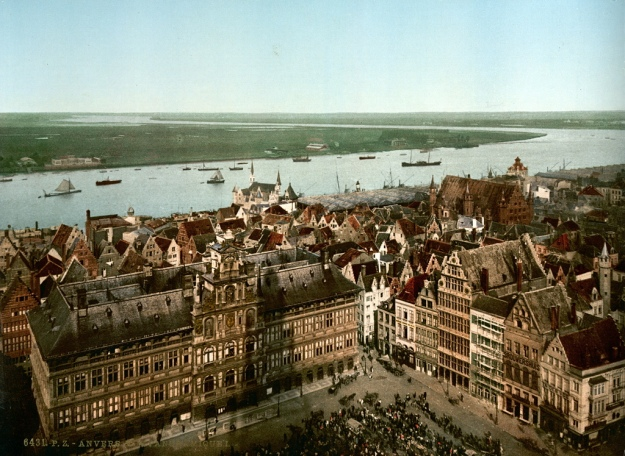 Antwerp Anvers 1900 Schelde Escaut