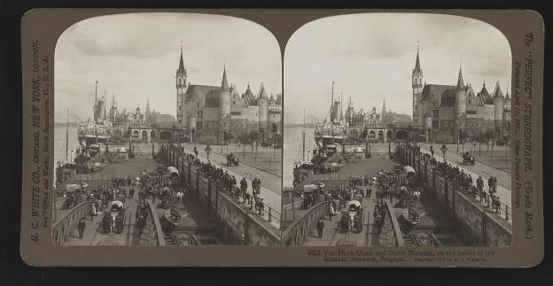Antwerp, 1907, Schelde, van Dyck Quay