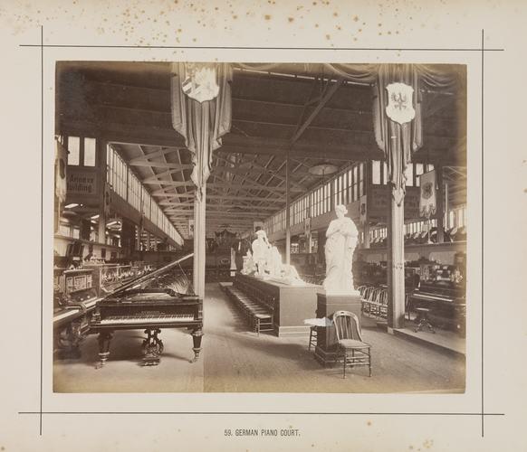 International Exhibition 1880 Melbourne, German Court, pianos