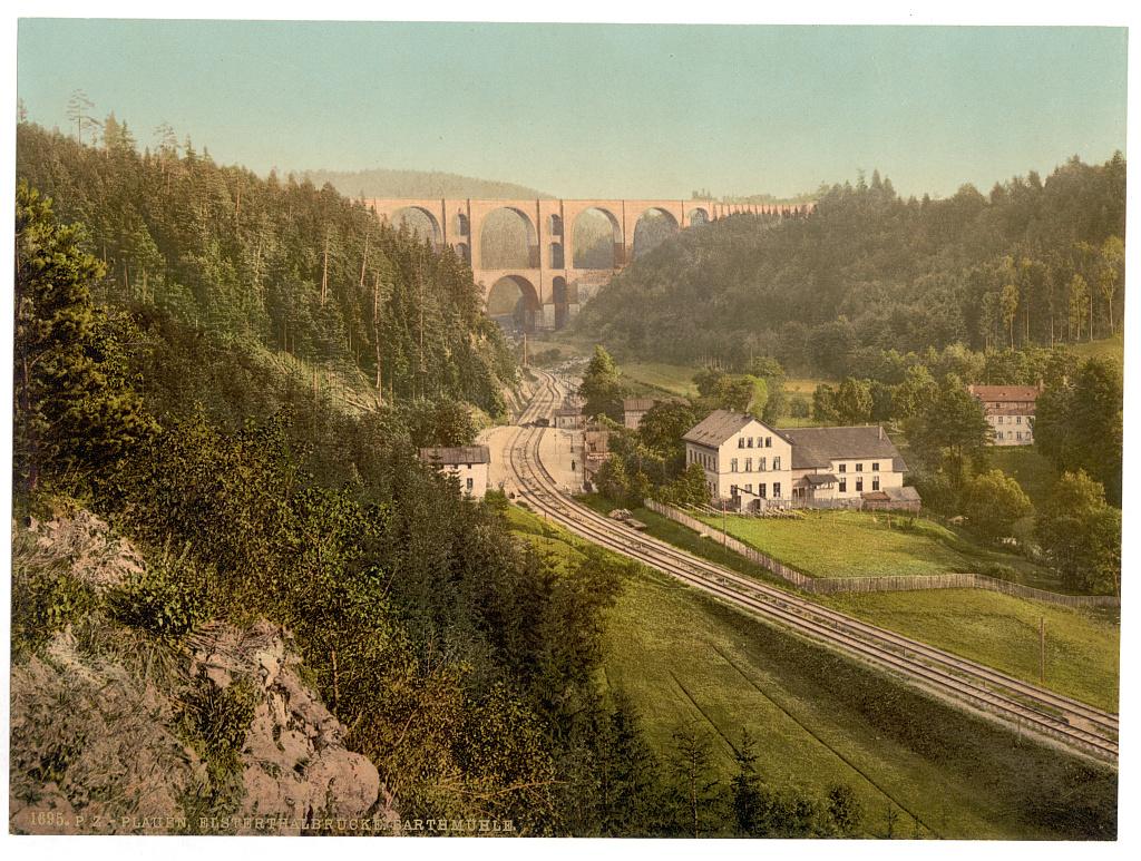 Estertalbrücke und Barthmühle bei Plauen