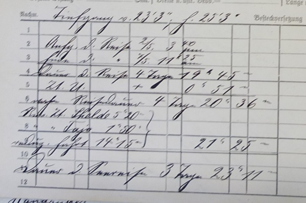 log book Furth, German Australian Line 1914
