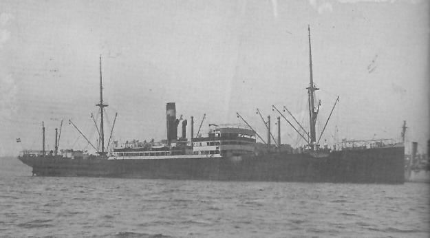SS Lueneburg, German Australian Line 1912