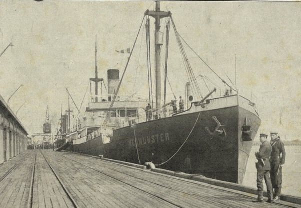 Neumunster, German-Australian Line, August 1914