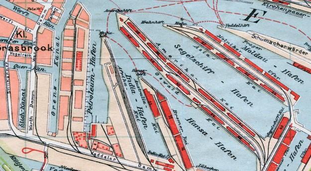 Schuppen 52, Hamburger Hafen, 1911