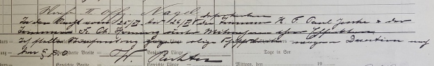 log book steamer Furth 1914