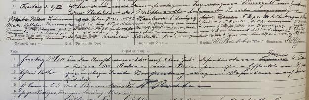 log book Furth 1914