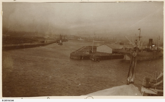 Yarra River, Victoria Dock, Melbourne, about 1914