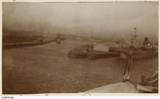 Yarra River, Victoria Dock, Melbourne, about 1914