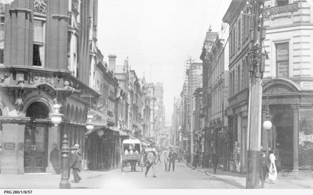 Little Collins Street, Melbourne 1915