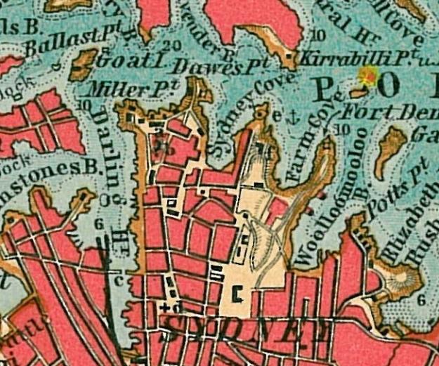 sydney map 1910