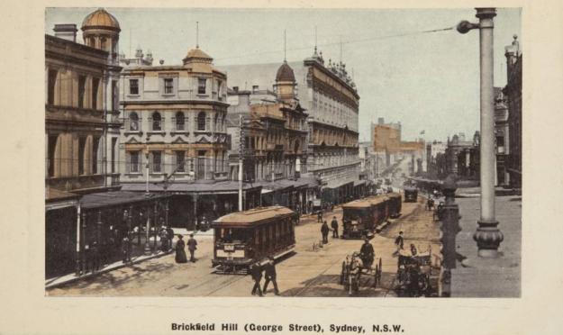 Brickfiel Hill, Sydney 1910