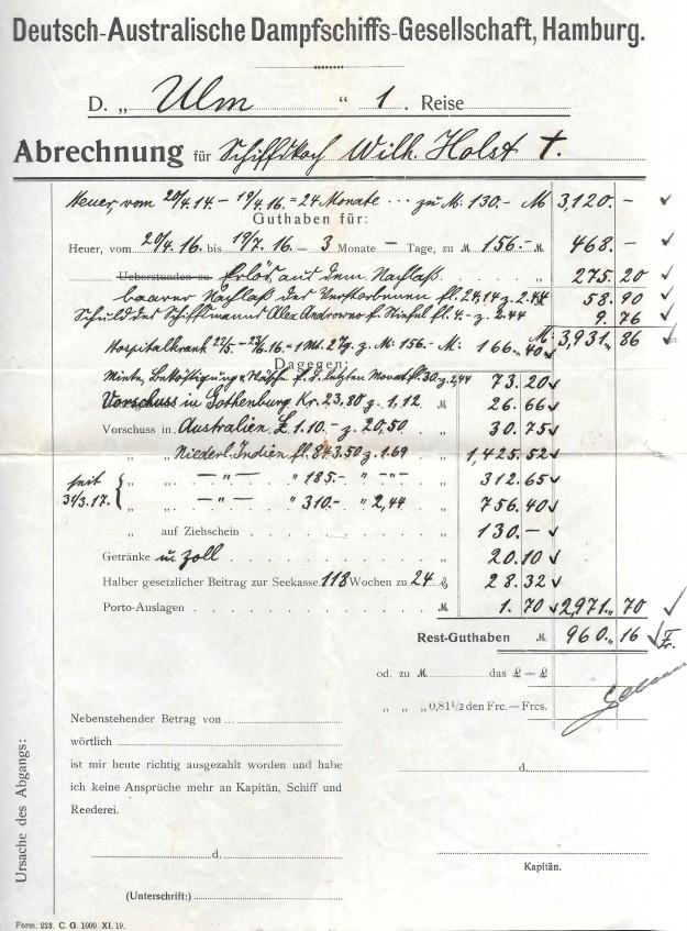 Schiffskoch Wilhelm Holst