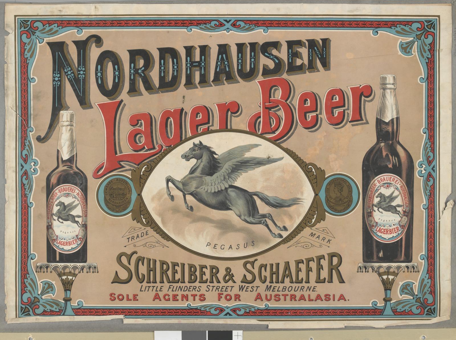 Nordhausen Lager Bier, Wiegand und Röer, 1900