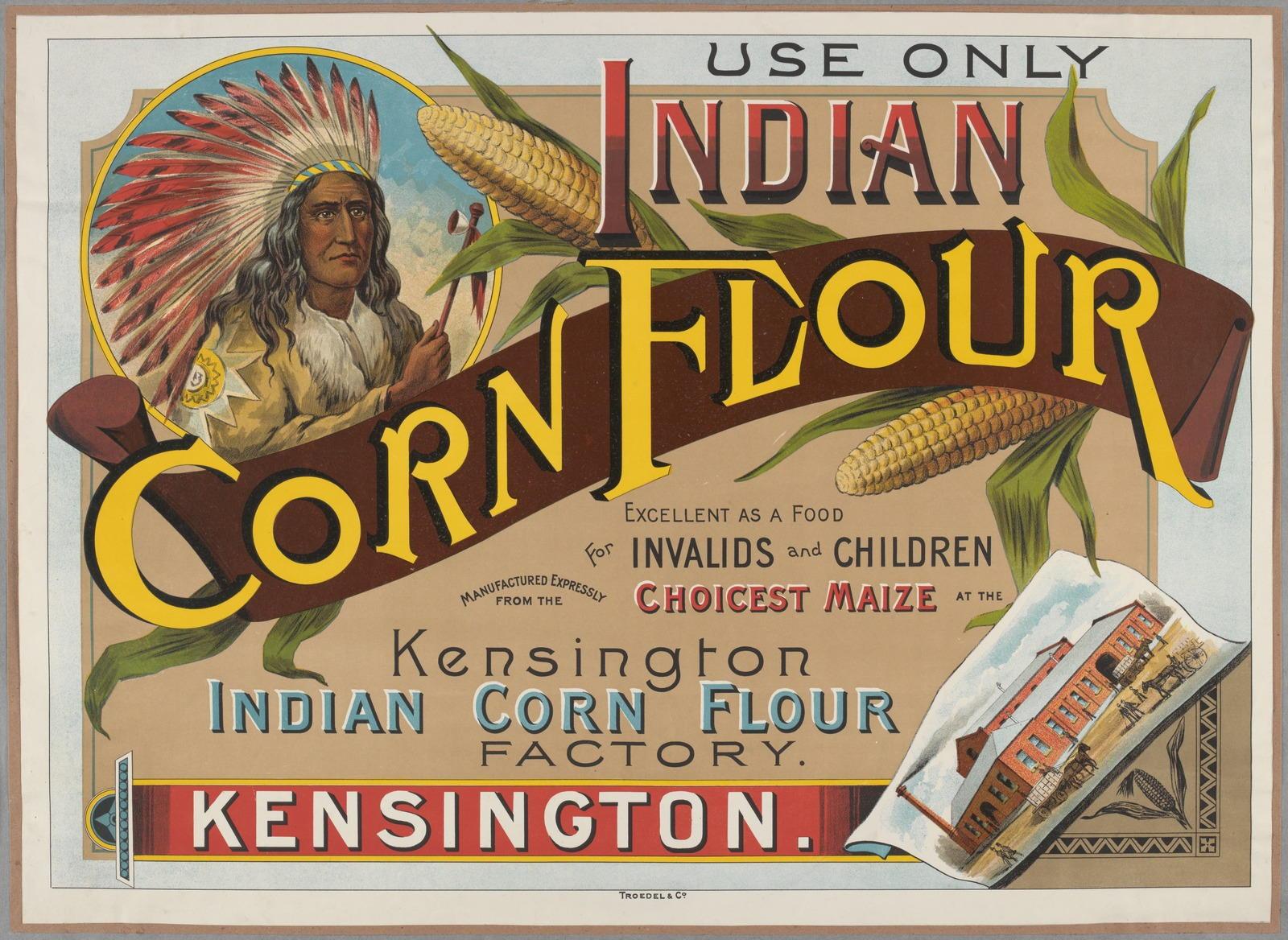cornflour, advertising, about 1890