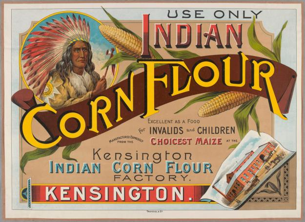 cornflour, advertising, about 1890