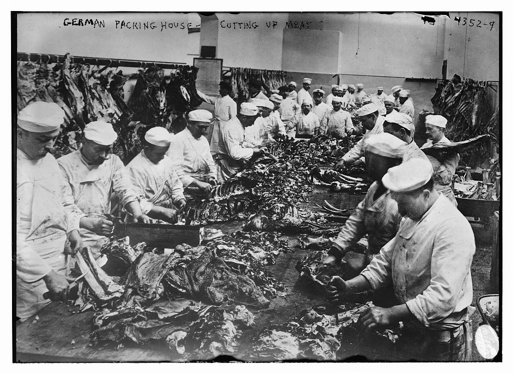 German meat packing house 1915